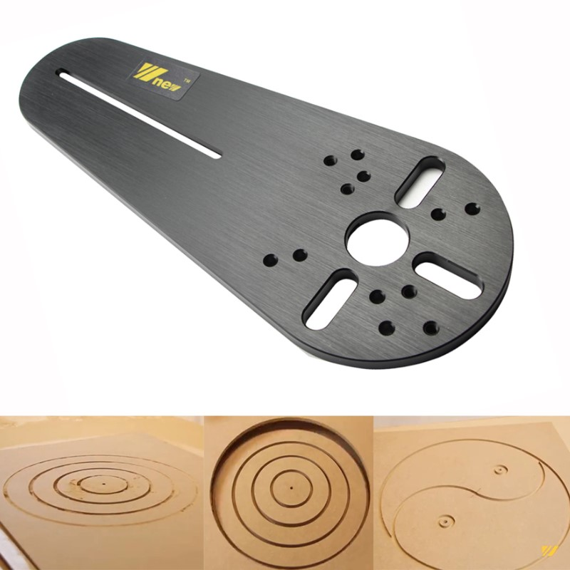 Circle Cutting Jig For Small Routers Trimmers Universal Type Woodworking Joinery Tool Wood Router Trimmer Machine DIY Accessorie