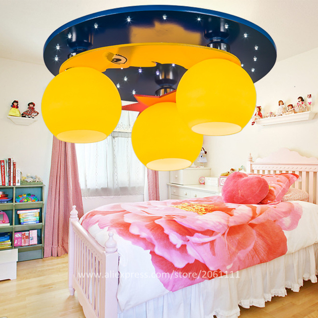 Decorated 110V220V fancy unique cartoon childrens bedroom light