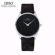 IBSO Luxury Simple Couple Watches Ultra Thin Quartz
