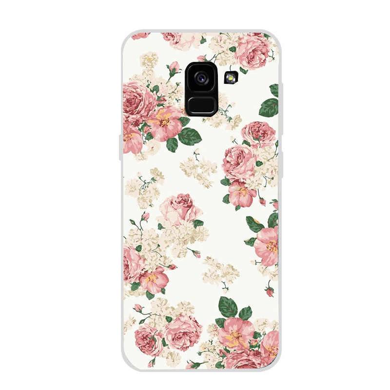 Ốp Lưng Điện Thoại Samsung A5 A8 Plus A7 2018 S8 S9 Plus S7 Edge Note 9 Mèo Hoạt Hình Đá Cẩm Thạch Ốp Lưng bao Da Funda Coque