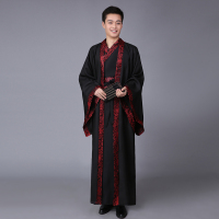 Chinese Ancient Man Robe Chinese Hanfu Cosplay for Male Chinese Traditional Costume Show Chinese Stage Performance Clothes 89