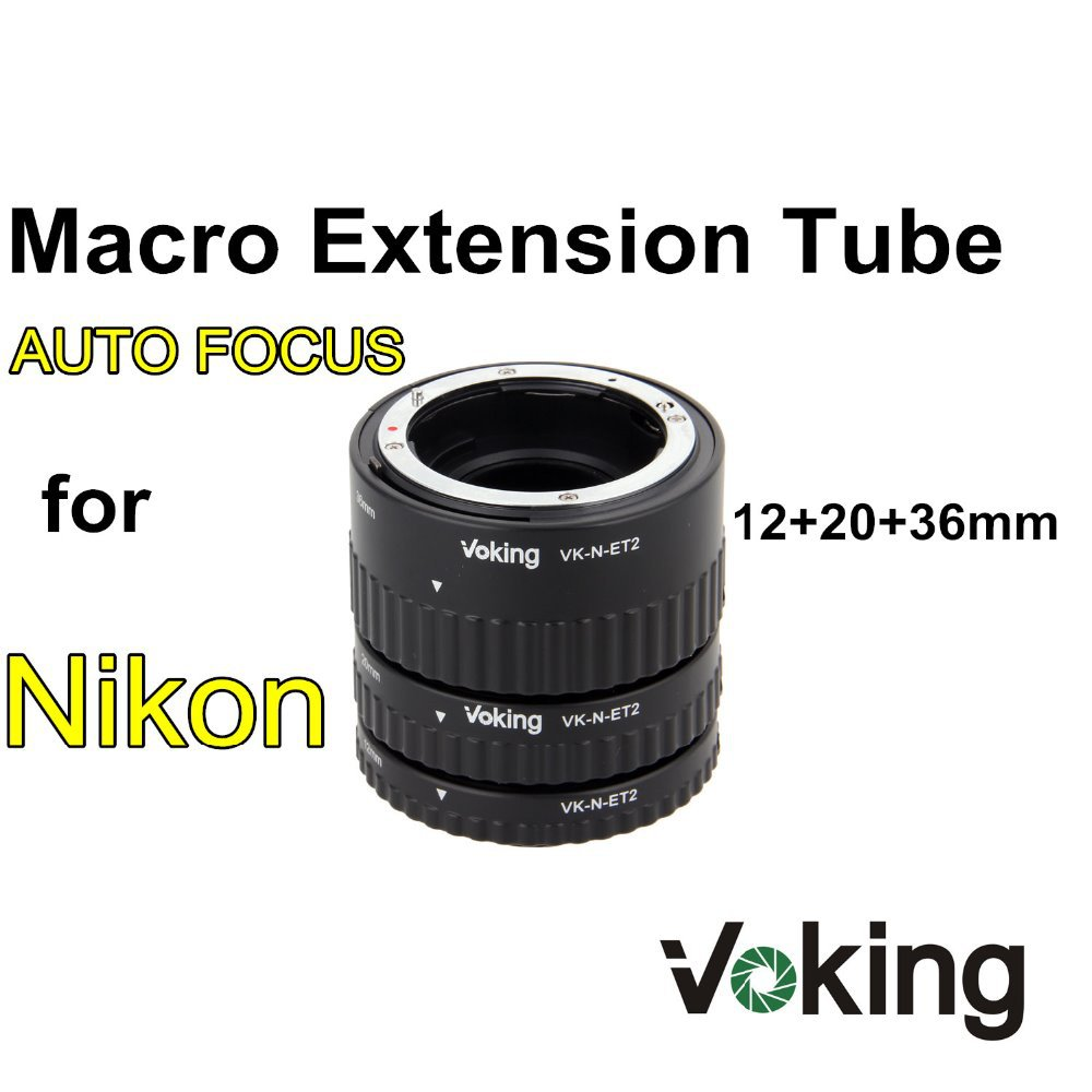Voking VK-N-ET2 Auto Focus Macro Extension Tube Ring for Nikon D7100 D5200 D3100 D800 D90 D800E D5100 D7000 D3100 DSLR Cameras цена 2017