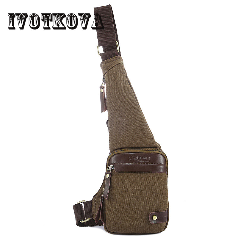 IVOTKOVA Men Travel Chest Bag Boy Canvas Rucksack Male One Shoulder Sling Back Pack Crossbody Bags for Young Men drop shipping augur 2018 men chest bag pack functional canvas messenger bags small chest sling bag for male travel vintage crossbody bag