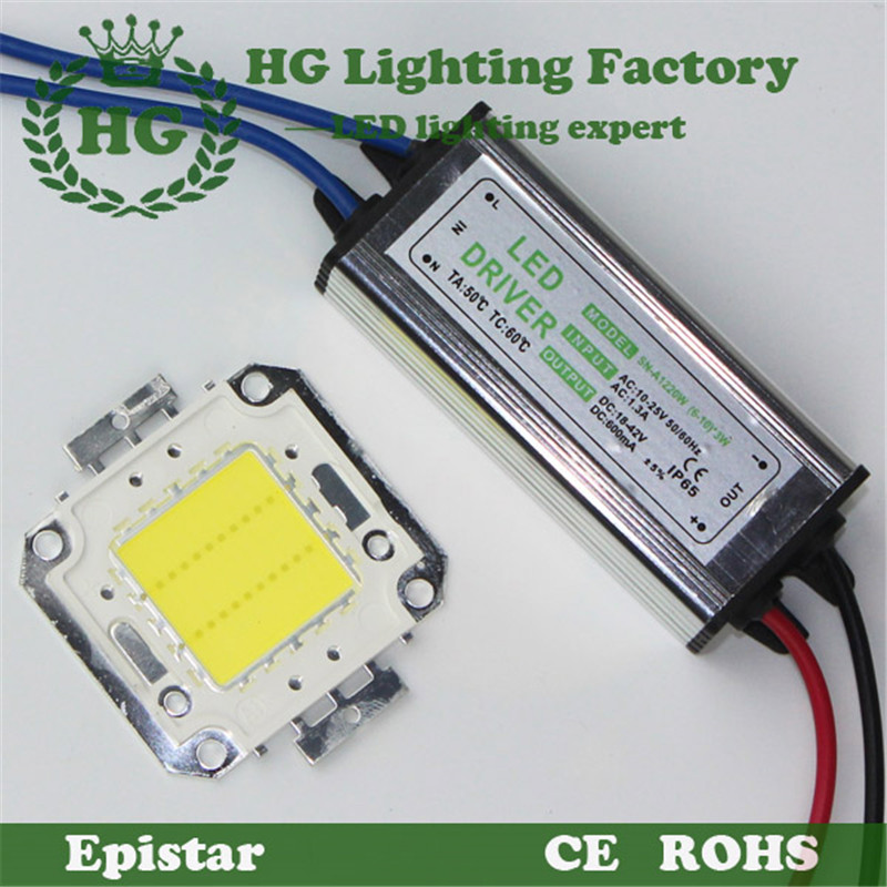 10W 20W 30W 50W High Power LED flood Light COB chip + AC / DC 12V input floodlight power supply Led driver - Hagood Technology Co., Ltd store