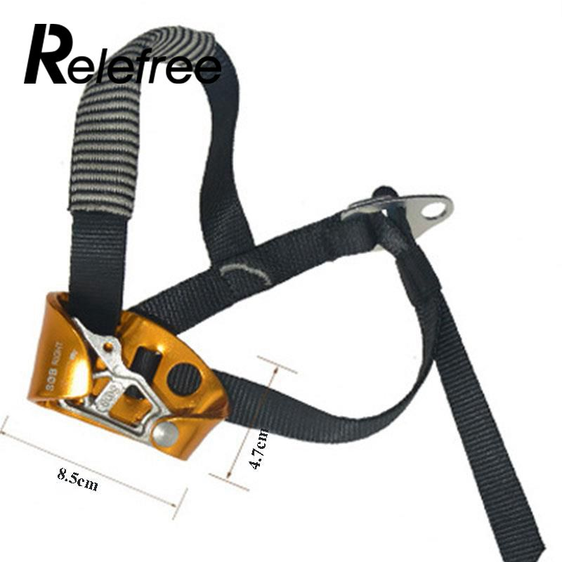 High Quality Right Foot Ascender Riser Rock Mountaineering Equipment Climbing Device Anti-dropping Protector Climbing Accessory e0037 right hand ascender professional aerospace aluminum ascenders for outdoor mountaineering rock climbing