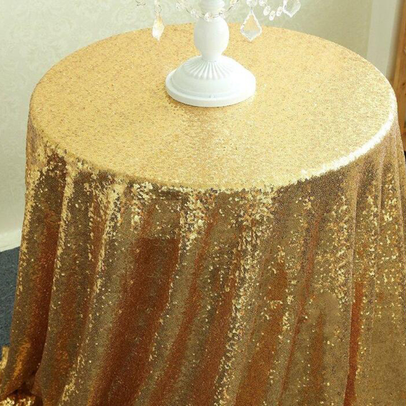 Marvelous Sequin Tablecloth For Wedding Party Gold Silver Colorful Table Cloth  Decoration Bling 120cm For Cake Table Champagne Tower Decor In Tablecloths  From Home ...