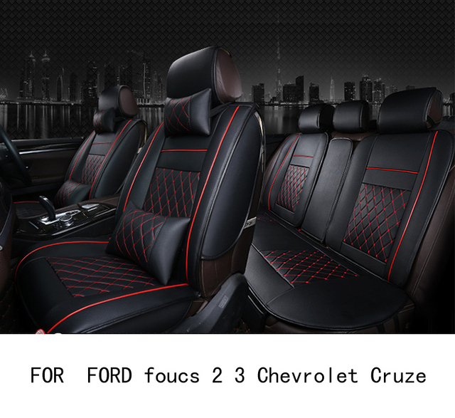 OUZHI easy clean firm grid pu leather car seat cover for FORD foucs ...