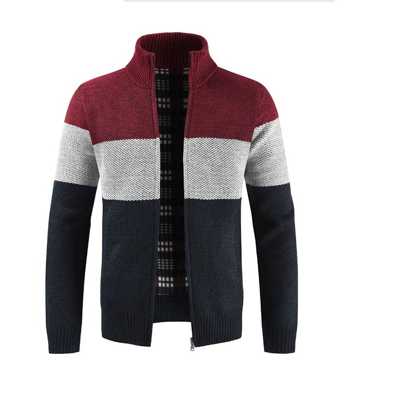 2019 Fashion Winter Thick Jackets For Men Comfortable Cotton Long Sleeve Jacket Cool Winter Padded Knitted Zipper Cardigan Coat
