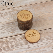 Custom Ring Box wedding valentines wooden ring box Wood Anniversary marry me heart Personalised  Rustic pillow