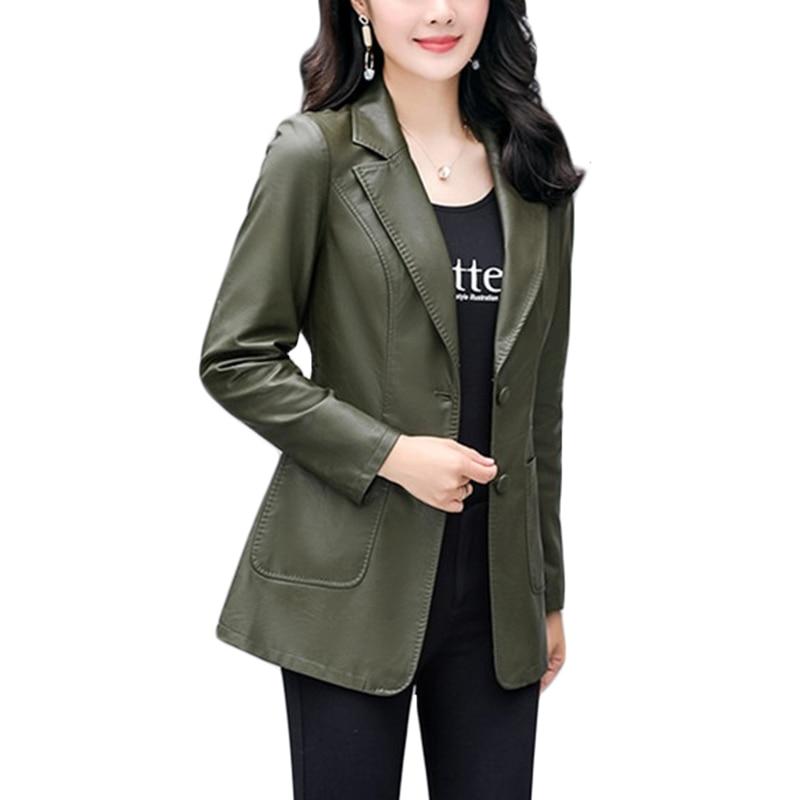 Tempérament Printemps A231 Slim blue Veste 4xl green En Pu Grande Taille Coréennes Vert Cuir Nouvelle Lavé red D'extérieur Purple Vêtements Tide black Femmes c5LAR34jq