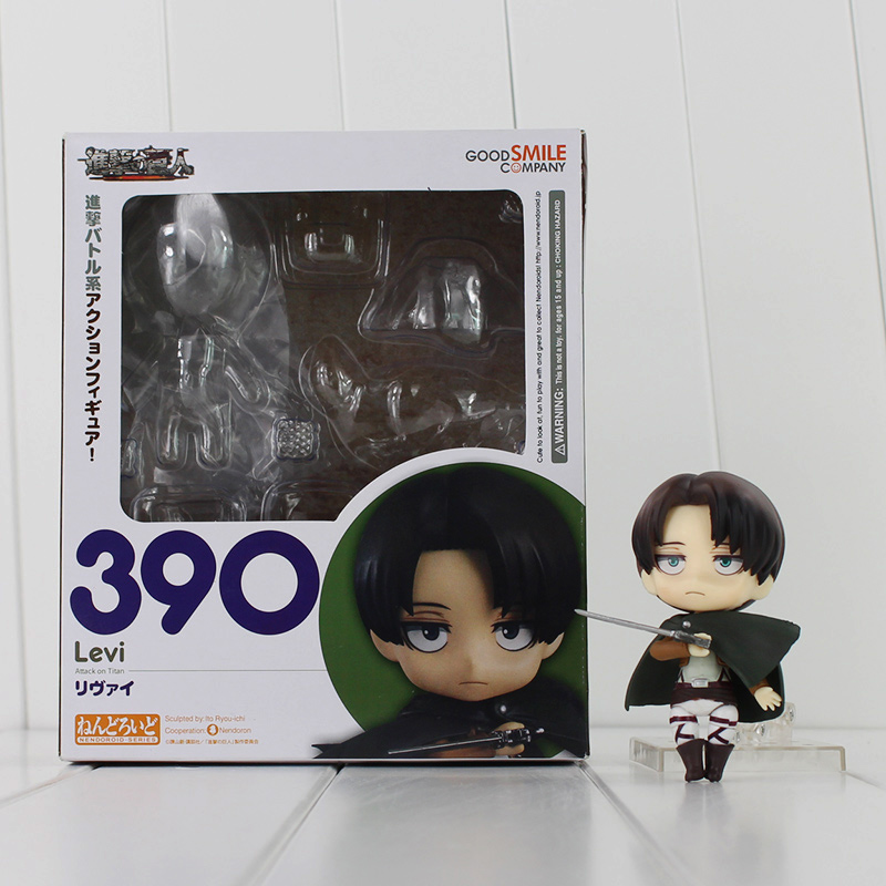 Attack On Titan Shingeki No Kyojin Scouting Legion Levi Rivaille PVC Action Figure Model Collection Toy 10cm