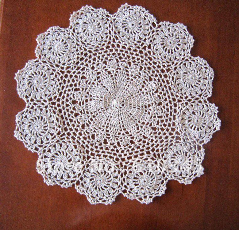 Free Shipping Wholesale Hand Made Crochet Table Mat100 Cotton Ecru
