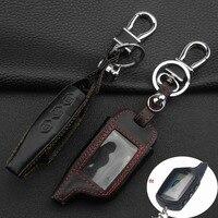 jingyuqin 3 кнопки автомобиль-стайлинг кожаные ключа чехол для СтарЛайн В9 А91 А61 twage В6 двухстороннее системы автосигнализации брелок