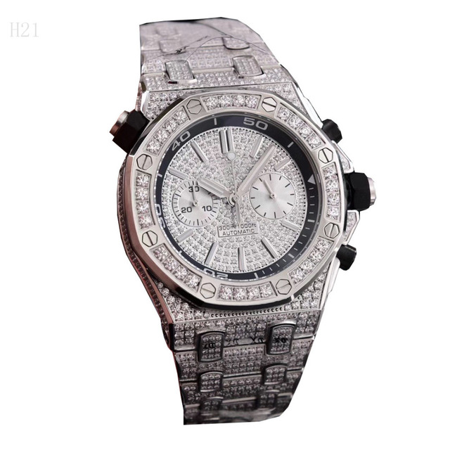 Men Diament Gold Watches Luxury Brand Design Gold Diamond Watch for Men Quartz Watch Waterproof Men Wristwatch Clock Iced Out