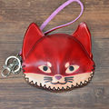 High Quality Hand Made Female Casual Animal Coins Bag Women Genuine Cow Leather School Kids Gift Fox Shape Coin Purse C038