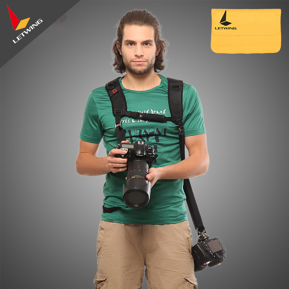 GGS FS-6 Professionnel FOTOSPEED Quick Release Épaule Double Sangle Caméra Ceinture Sling avec 1/4 vis pour DSLR Caméra pour Gopro