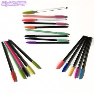 Image 2 - 1000 шт., одноразовые разноцветные кисточки для туши для ресниц