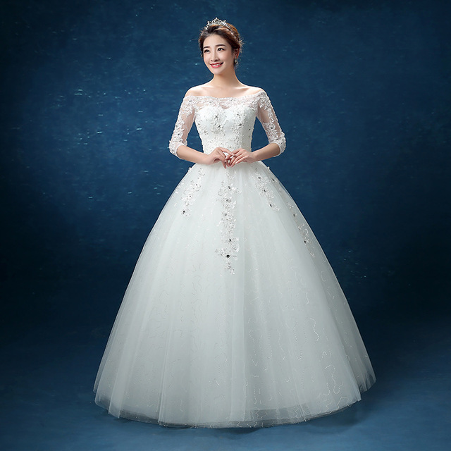 Aliexpress Fashion Sleeve Off The Shoulder In Simple Wedding Dresses