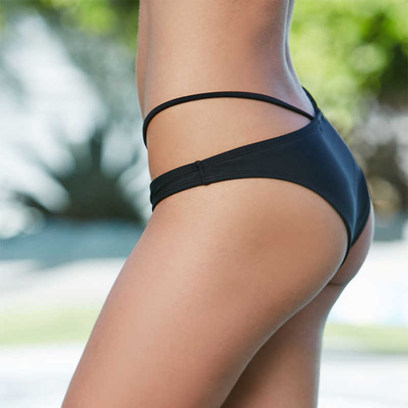adbd4bd9aaeef ... YCDYZ Black White Pink Sexy Strappy Bikini Bottoms Swimwear Women  Swimsuit Underwear 2 Piece Swimsuit Separates ...