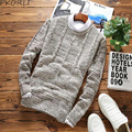New Fashion Brand Men Sweater Casual Knitted Pullover Mens Sweaters O-Neck Long Sleeve Slim Fit Male Sweater XXL