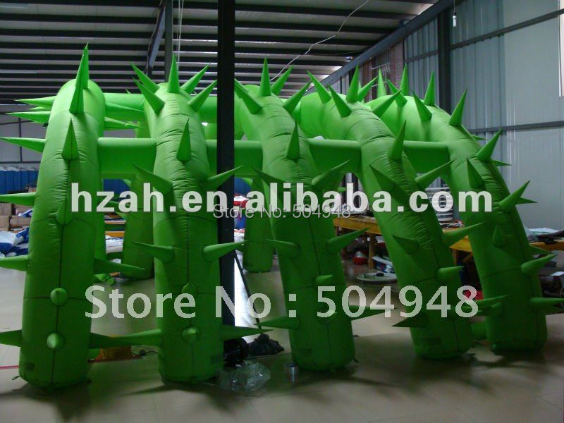 Green Advertising Inflatable Arch Tunnel Decoration