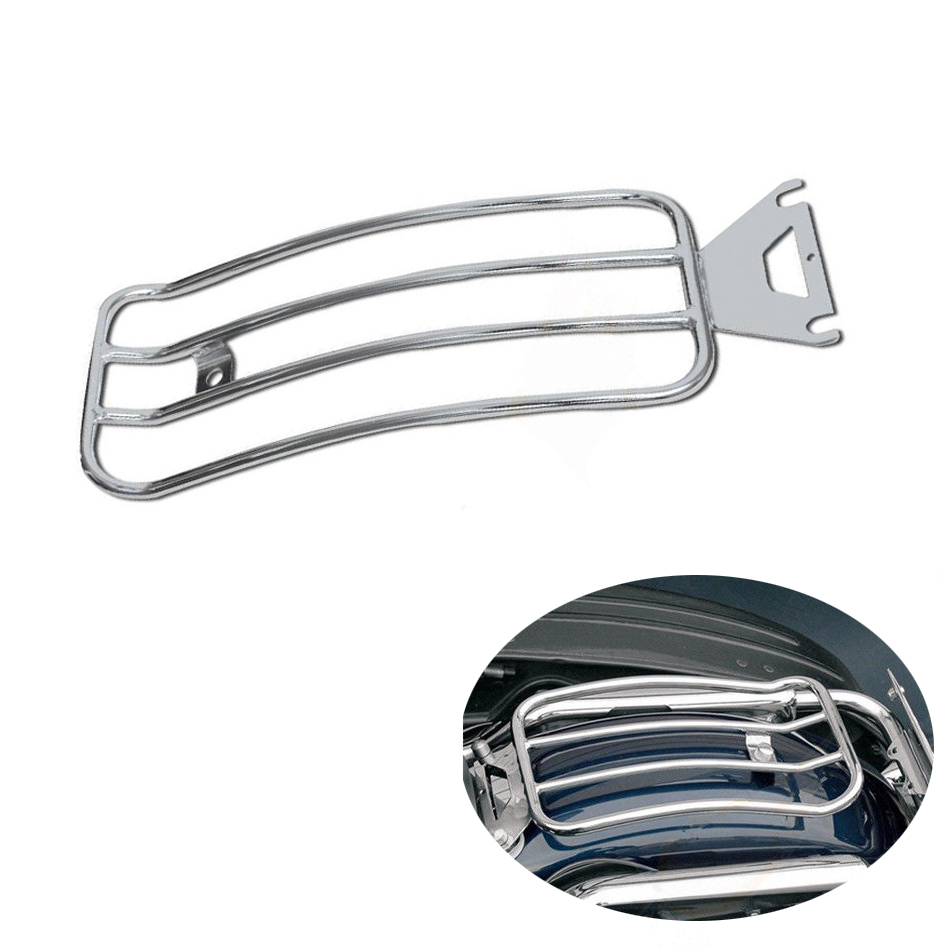 For Harley Touring Solo Seat Luggage Rack Shelf Support Rear Fender Electra Road Street Glide 1997-2015 Motorcycle Accessories (2)