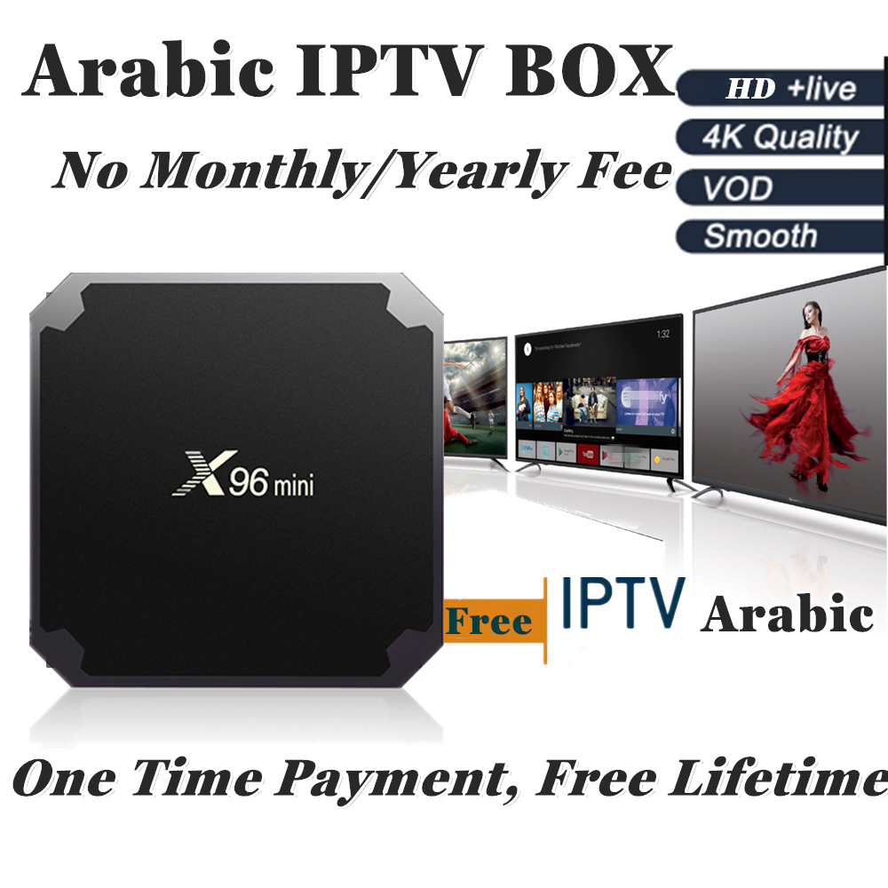X96Mini Android IP TV box OS 7 1 4kArabic IPTV Box Lifetime Free Subscription 800PlusTV with