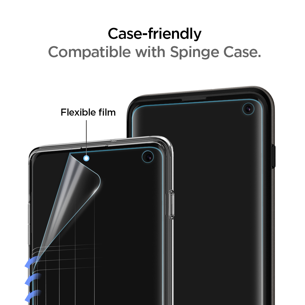 ᗕ100% Original SPIGEN NeoFlex Flexible Soft Material Film Screen Protector  for Samsung Galaxy S10 / S10 Plus / S10+ / S10E - a163