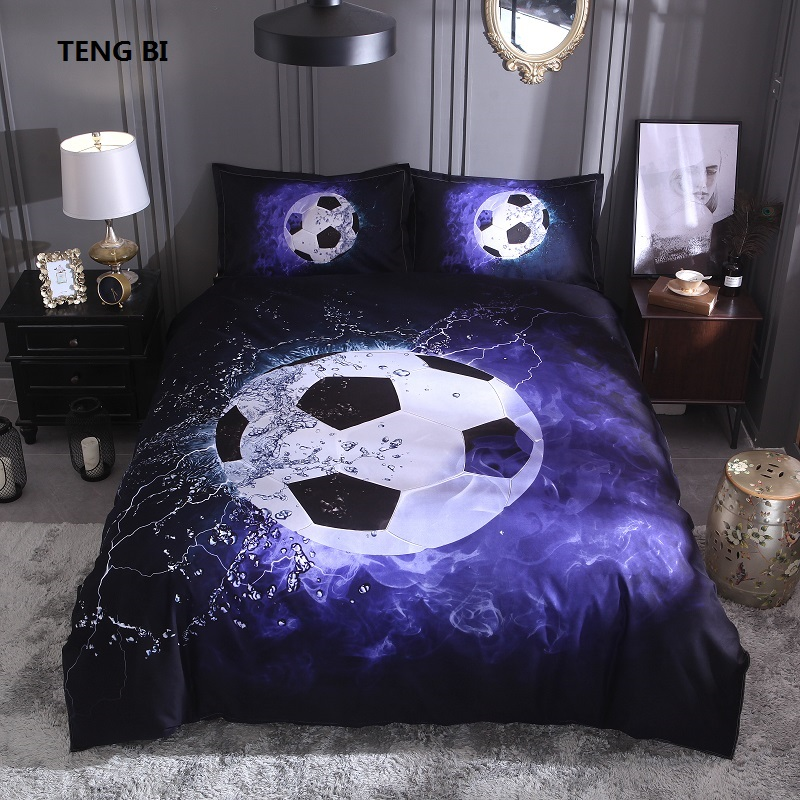 2018 The New Bedding Set Football Football Basketball Bedding 3 Pieces Twin Full Queen King Size Duvet Cover Pillowcase2018 The New Bedding Set Football Football Basketball Bedding 3 Pieces Twin Full Queen King Size Duvet Cover Pillowcase