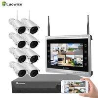 Indoor 1 2 3 4 ТБ аудио 8CH дома Камера монитор 1080 P видео беспроводной видеонаблюдения Системы встроенный жесткий диск