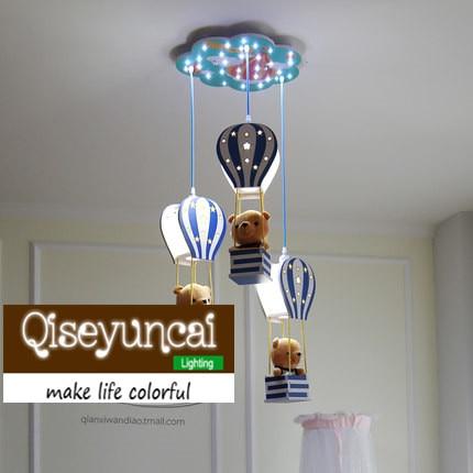 Qiseyuncai Nordic modern minimalist children balloon theme chandelier LED children room boy girl bedroom lighting
