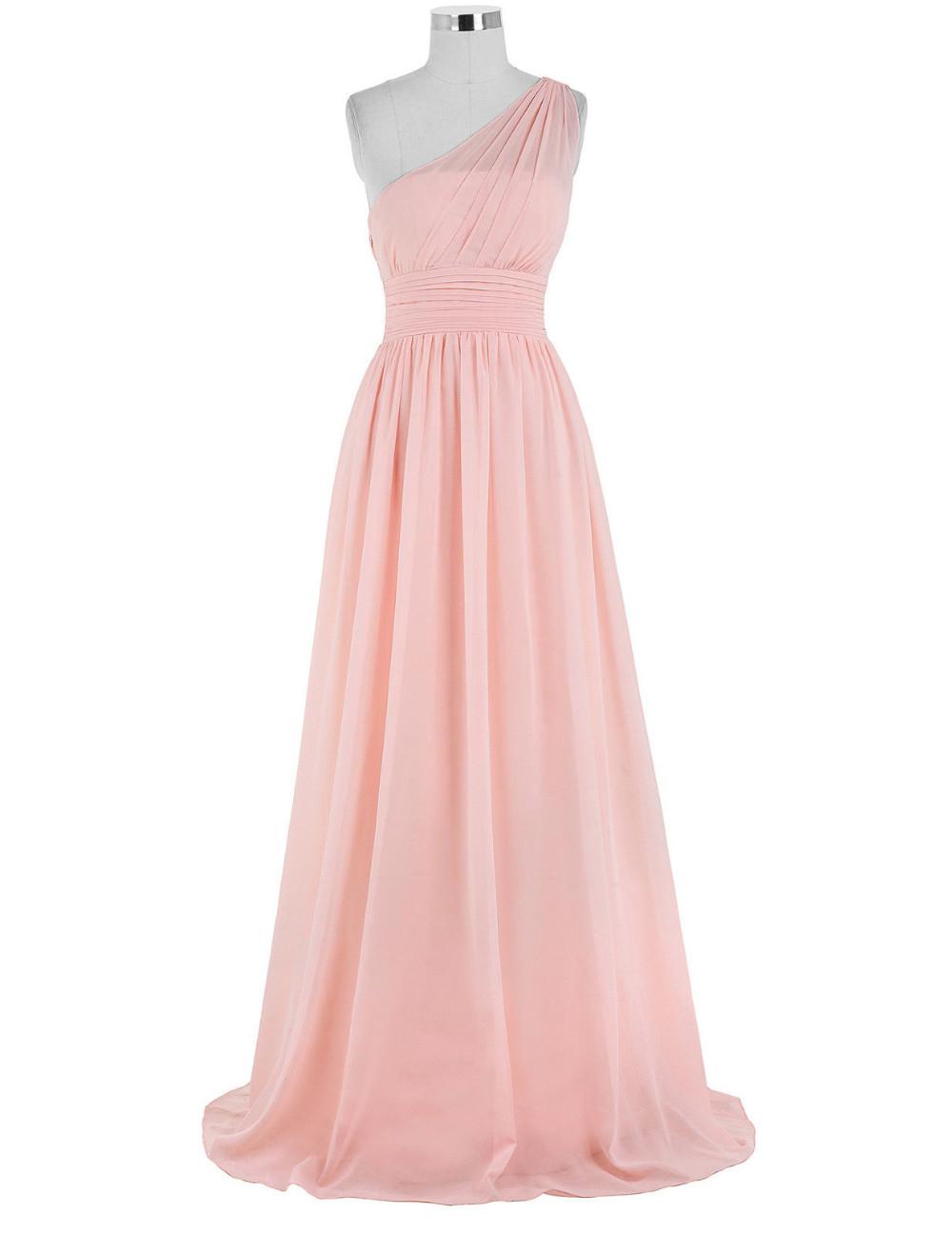 Kate Kasin Mint Green Bridesmaid Dresses Long Wedding Party Dresses One Shouler Bruidsmeisjes Jurk Pink Bridemaid Dress 0200 10