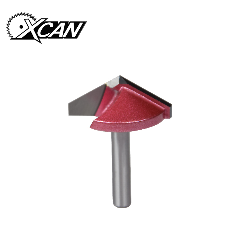 XCAN 1pc 6mm V Type CNC Tungsten End Mill 3D Router Bits for Woodworking MDF Milling Cutter 60 90 120 150 Degree engraving bits 8 60 90 120 v 2 flutes cnc machine engraving bit two spiral cutter cnc router endmill