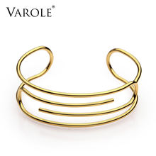 Varole скрепки Браслет манжета манжетой золотой цвет чехол для