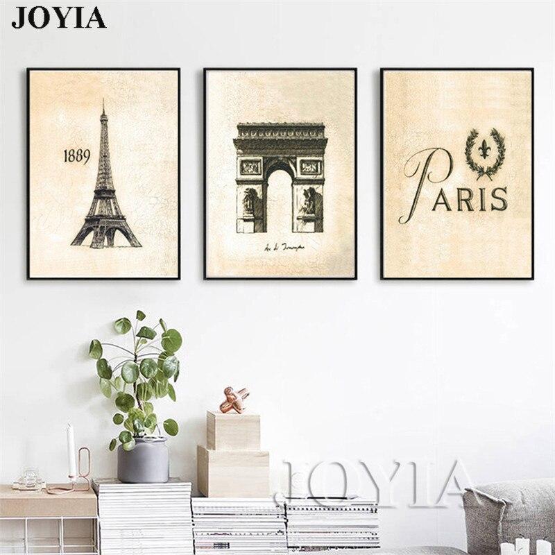 ④Tríptico clásico Francia fotos Torre Eiffel Arco del Triunfo ...