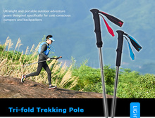 AONIJIE 1 / 2 pcs Trekking Poles carbon fiber lightweight Adjustable Folding Ultralight Quick Lock walking stick