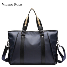 VIDENG POLO Famous Brand Men Handbag Oxford Shoulder Messenger Bags Business Large Capacity Men Briefcase Waterproof Laptop Bag