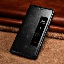 Оригинальный xoomz телефон чехлы для Huawei P10/P10 плюс Роскошный Натуральная кожа Smart View Окно флип чехол для Huawei P10 плюс крышка