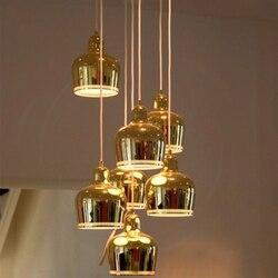 Postmodernistyczna lampa wisząca led żelazna lampa wisząca salon restauracja Decor lampa wisząca wyposażenie kuchni oprawa oświetleniowa Luminaria w Wiszące lampki od Lampy i oświetlenie na