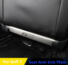Anti-scratch pad For Volkswagen Golf 7 Rear Seat anti-kick plate anti-scratch wire drawing stainless steel trim 2pcs