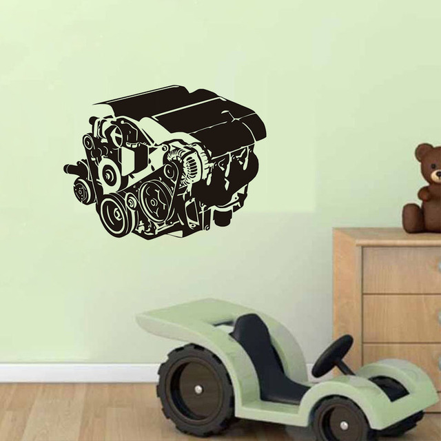 Auto Motor Wand Aufkleber Auto Werkstatt Auto Reparatur Service