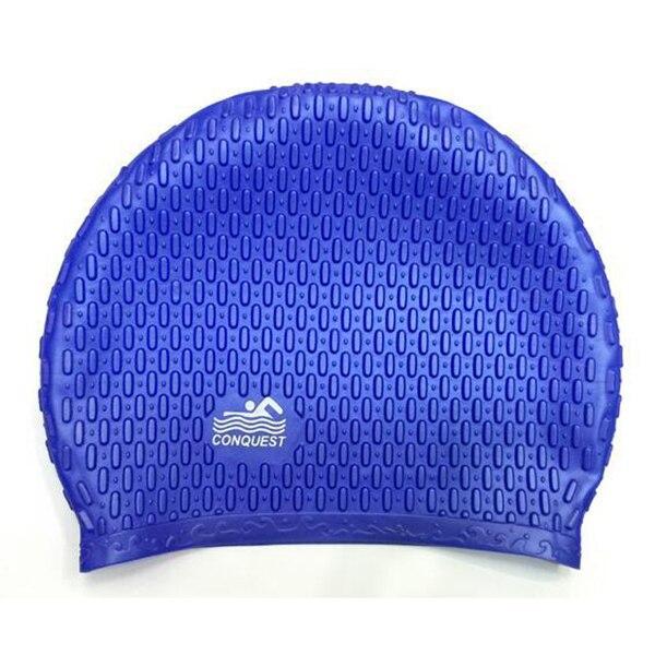 Новая распродажа унисекс Водонепроницаемый силиконовые стрейч Плавание шляпа Плавание ming длинные волосы Кепки синий/черный/розовый/роза