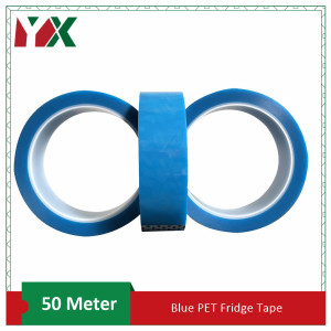 10mmx50M PET Tape Blue Refrige