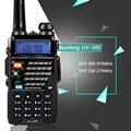 Walkie Talkie рация Baofeng УФ-5RE Плюс Dual Band Two способ Радио Pofung УФ 5RE 5 Вт 128CH UHF/VHF Двойной Дисплей радио