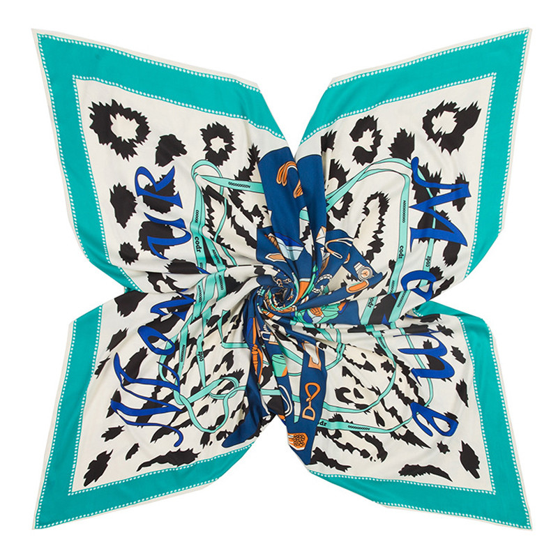 Large Silk Scarf Madame Monsieur | Lightweight Scarves  | Up to 60% Off Now