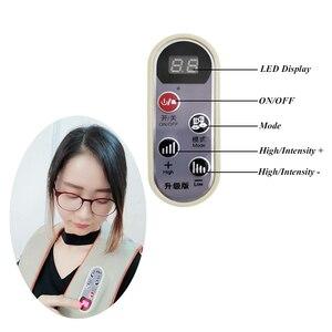 Image 4 - U образный Электрический Массажер шиацу для спины, шеи, плеч и тела, инфракрасный разминающий массажер с подогревом, многофункциональный массажер для дома