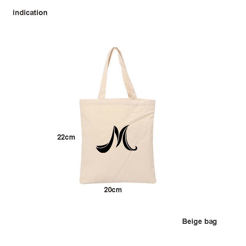 100Pcs Beige Color 22Cm*20Cm Canvas Cotton Tote Shopping Bag Company Bag Plain Nature Cotton Canvas Shoulder Bagse