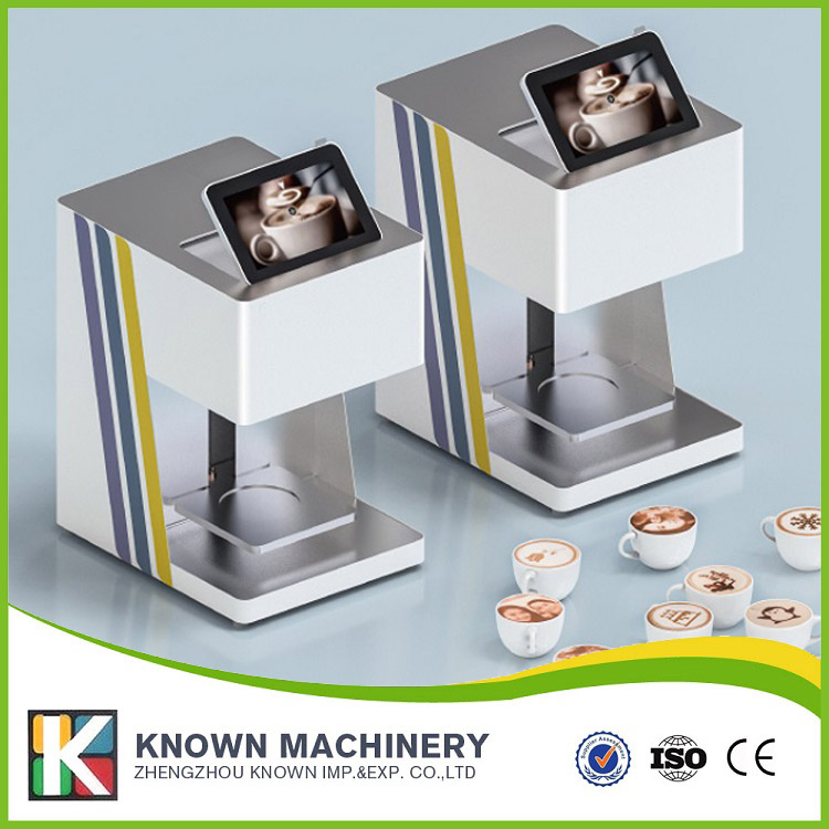 2017 New Design edible food cake bread chocolate coffee 3D printer with white color digital inkjet printing machine coffee printer with edible ink