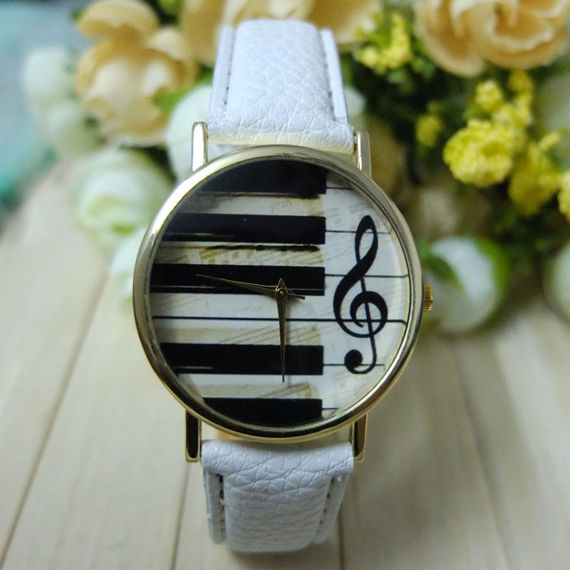 2017 Watch Fashion Geneva High Quality Women Men Unisex Analog Quartz Piano Keyboard Musical Note Wristwatch Lady Dress Ornament high quality 2016 luxury brand fashion women geneva roman watch lady pu leather analog quartz wristwatch relogio masculino mujer