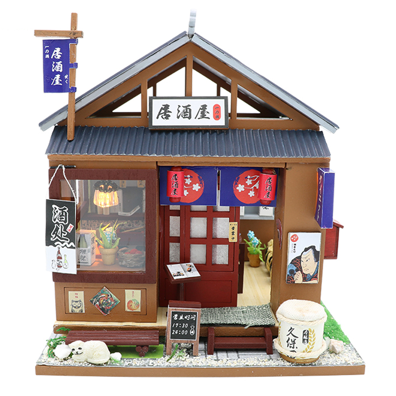 CUTEBEE DIY Doll House Wooden Doll Houses Miniature dollhouse Furniture Kit Toys for children Christmas Gift M037-in Doll Houses from Toys & Hobbies